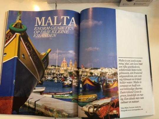Advertorial about Malta in magazine Villa d'Arte